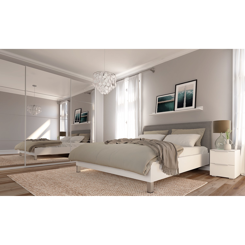home24 Schwebetuerenschrank SKOEP IV | Schlafzimmer > Kleiderschränke > Schwebetürenschränke | Weiss | SKOEP