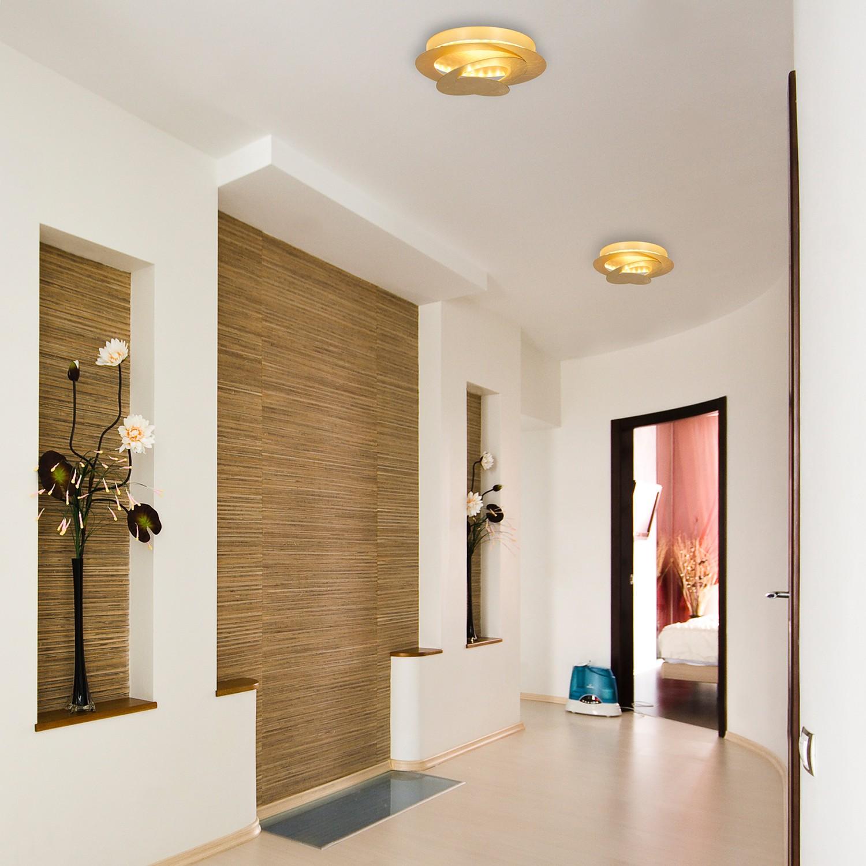 home24 LED-Deckenleuchte Brux