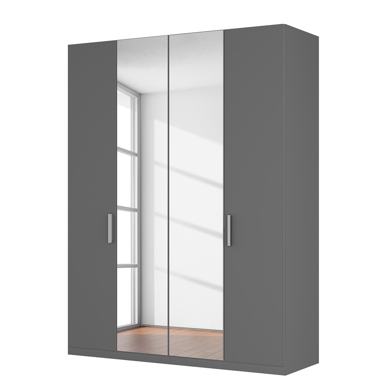 Drehtuerenschrank SKOEP X | Schlafzimmer > Kleiderschränke > Drehtürenschränke | Grau | Holzwerkstoff - Glas | SKOEP