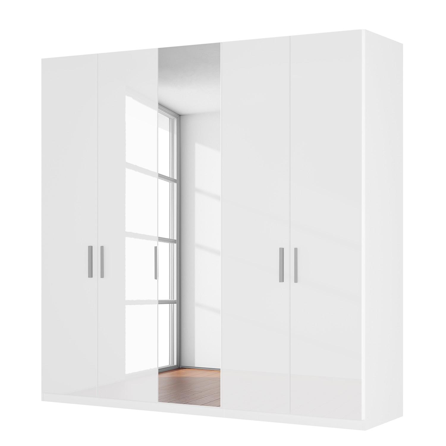 Drehtuerenschrank SKOEP XI | Schlafzimmer > Kleiderschränke > Drehtürenschränke | Weiss | Holzwerkstoff - Glas | SKOEP