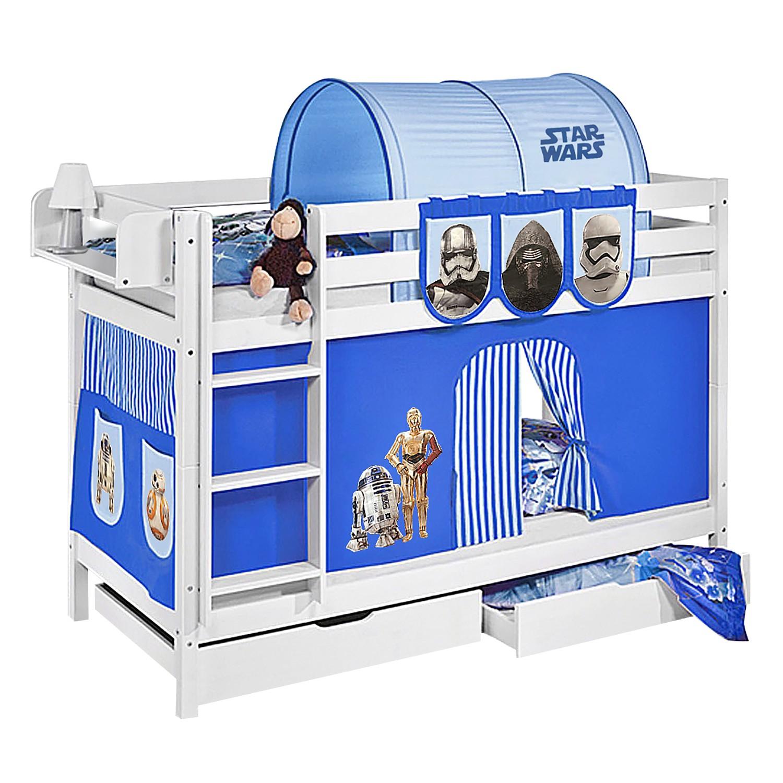 home24 Etagenbett JELLE Star Wars Blau | Kinderzimmer > Kinderbetten | Weiss | Massivholz | Lilokids