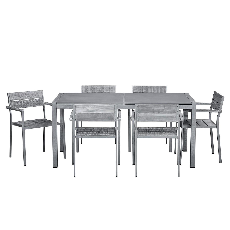 home24 Essgruppe Connor II (7-teilig) | Küche und Esszimmer > Essgruppen > Essgruppen | Grau | Studio Copenhagen