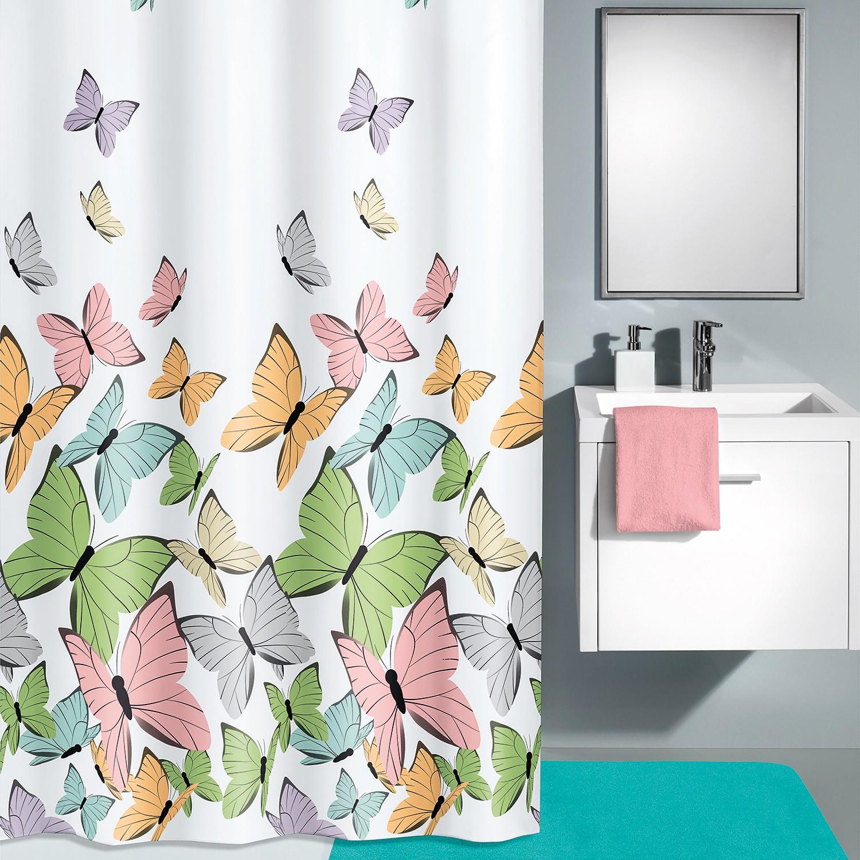 home24 Duschvorhang Butterflies | Bad > Duschen | Weiss | Kleine Wolke