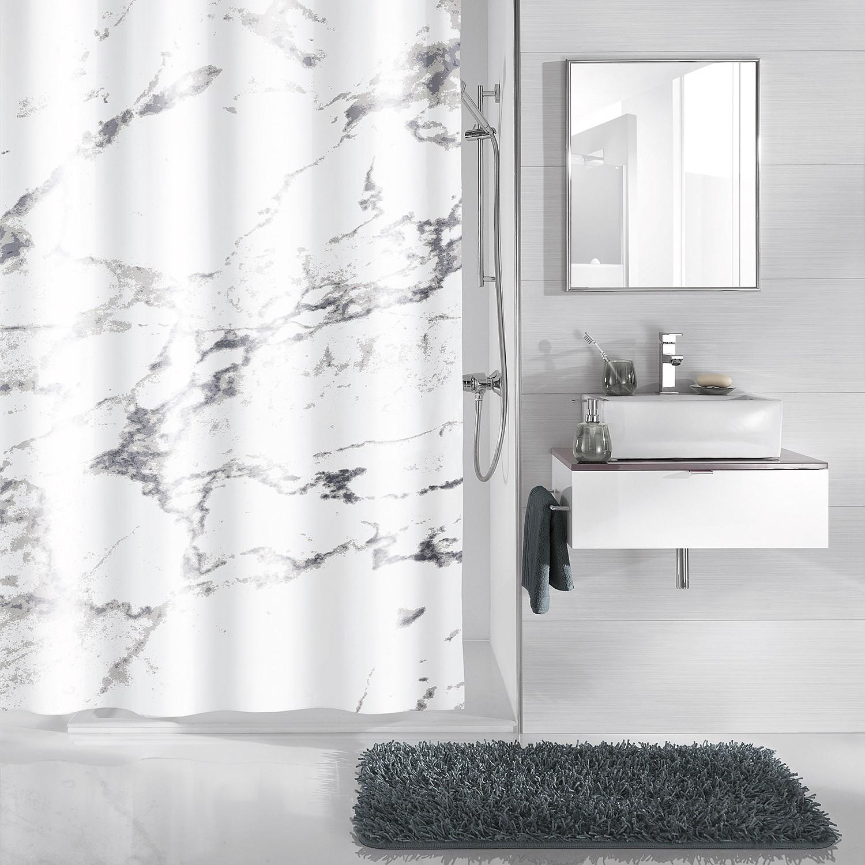 home24 Duschvorhang Marble | Bad > Duschen > Duschvorhänge | Weiss | Kleine Wolke