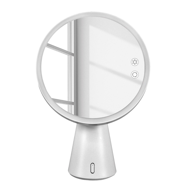 home24 Kosmetikspiegel Genius Mirror | Bad > Bad-Accessoires > Kosmetikspiegel | Weiss | Kleine Wolke
