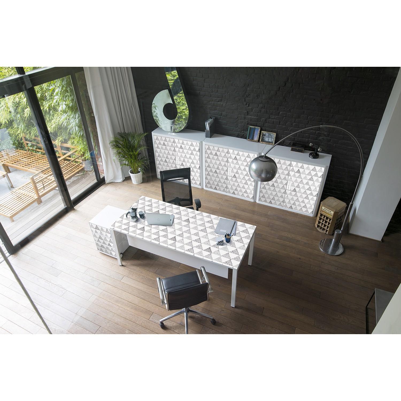 home24 Schreibtisch easyDesk Black/White II