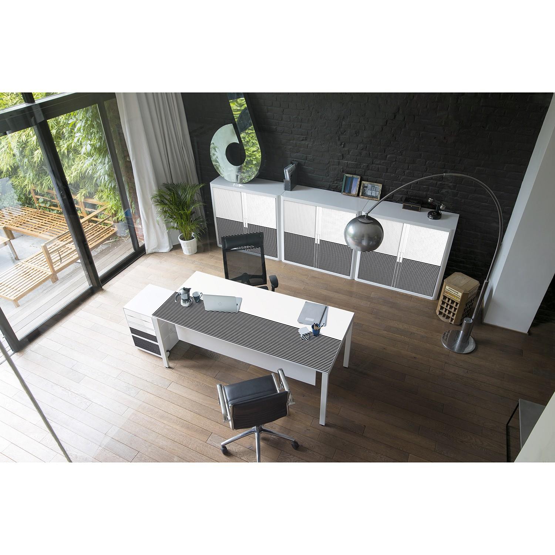 home24 Schreibtisch easyDesk Black/White III