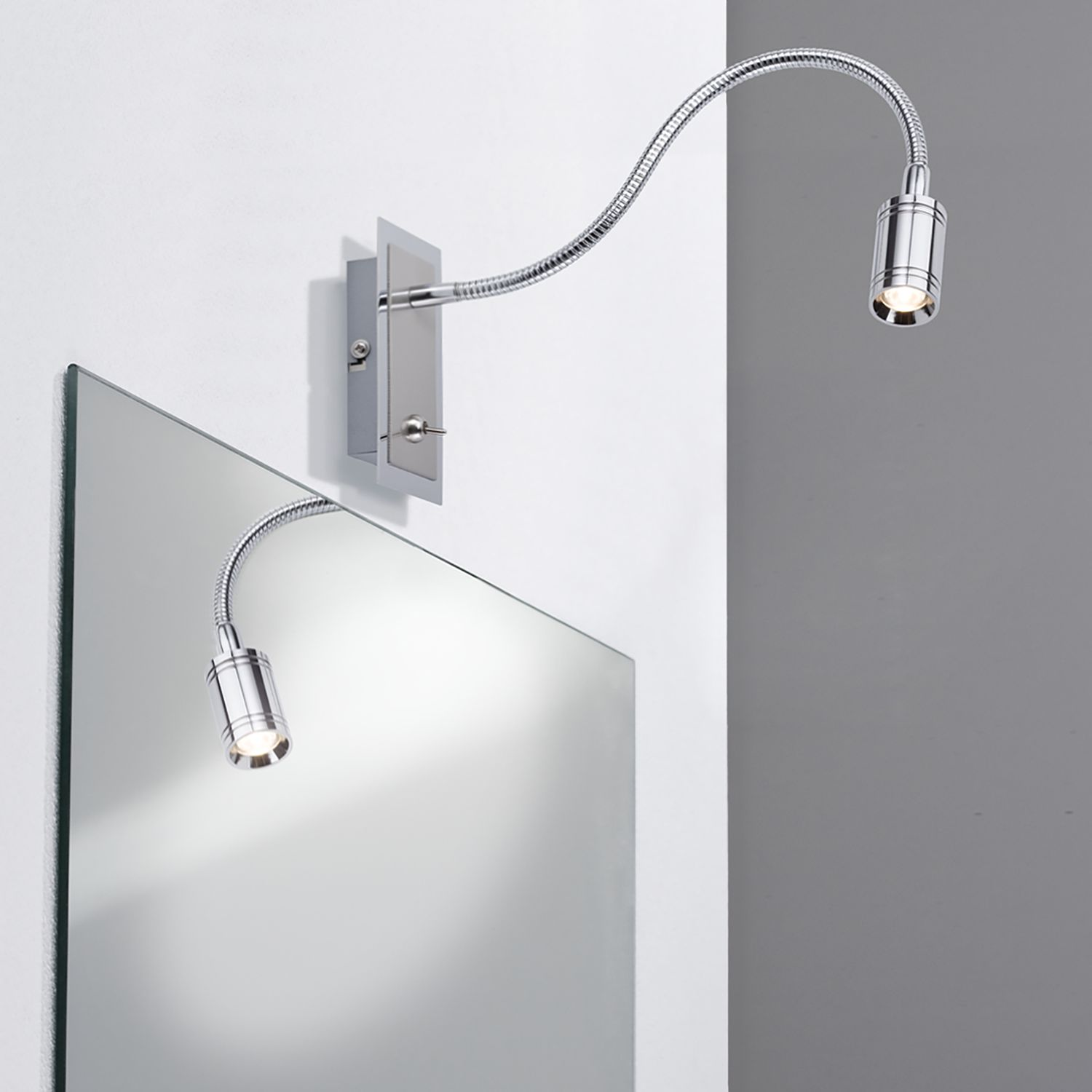 home24 LED-Wandleuchte Zylindro