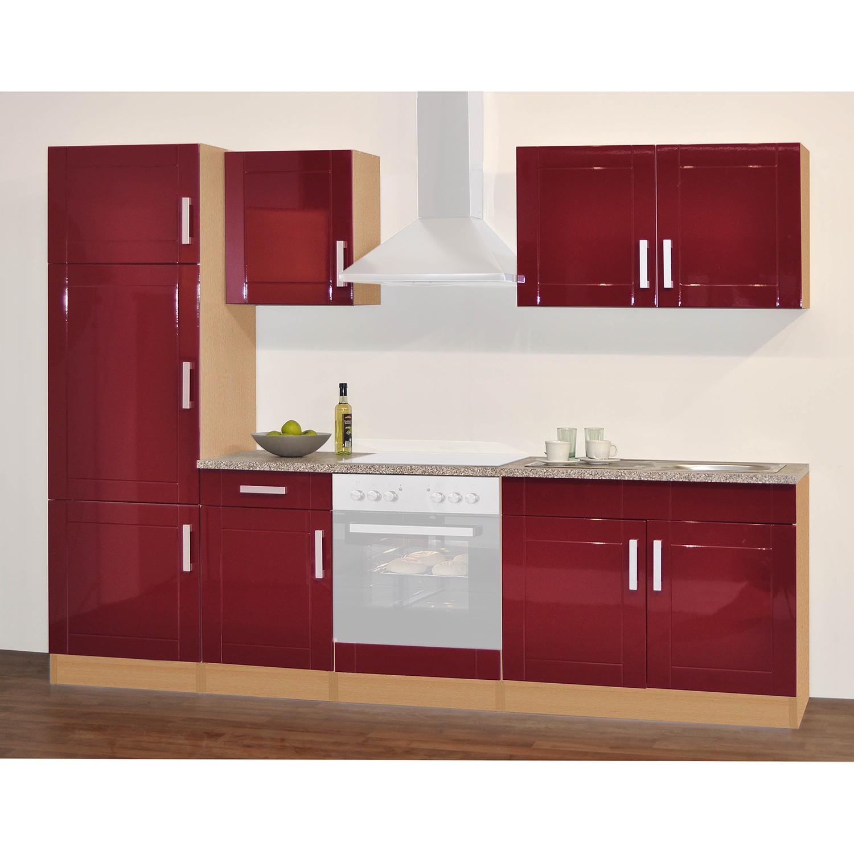 home24 Kuechenzeile Varel III | Küche und Esszimmer > Küchen > Küchenzeilen | Rot | Held Moebel
