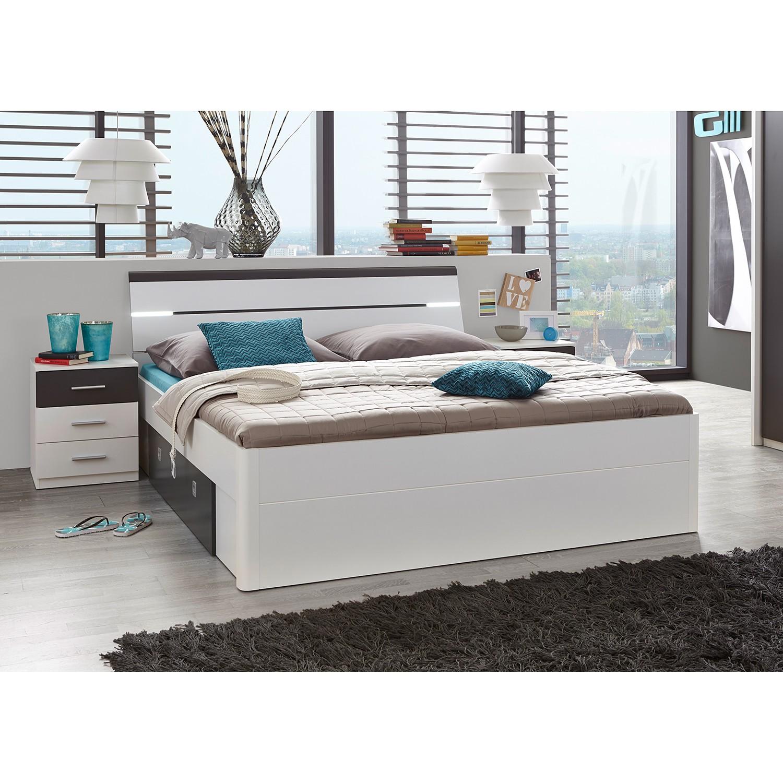 Schlafzimmermöbel - Bettanlage Veneta (3-teilig) - Fredriks - Weiss