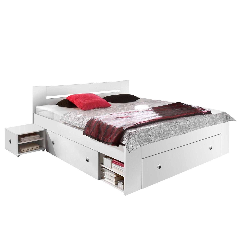 Schlafzimmermöbel - Bettanlage Stefan (3-teilig) - mooved - Weiss