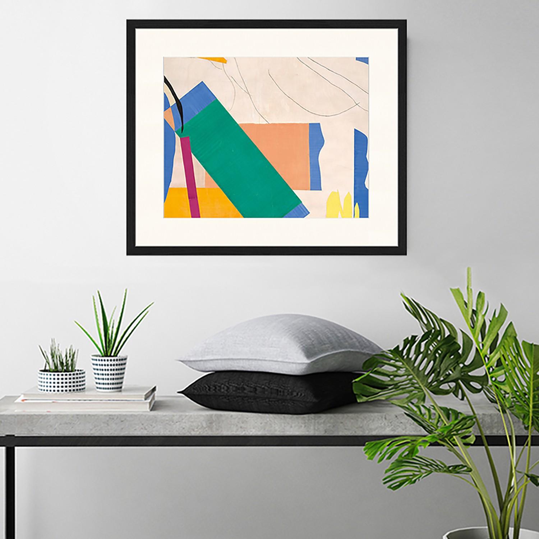 home24 Bild Collage with Green | Dekoration > Bilder und Rahmen > Bilder | Any Image