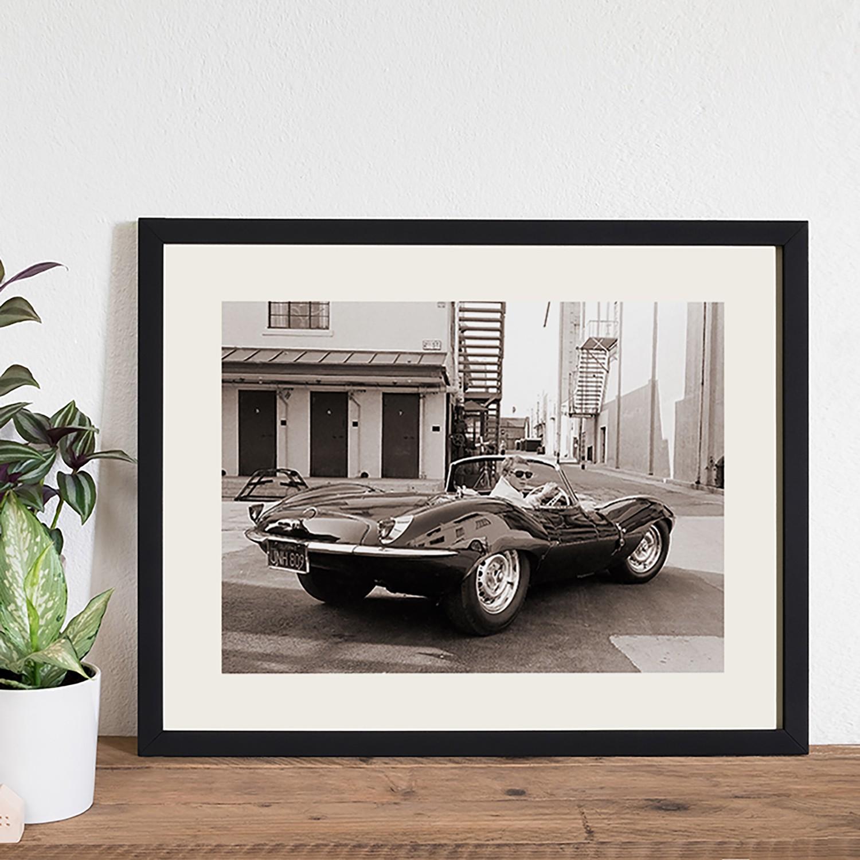 Bild Steve McQueen in his Jaguar, Any Image