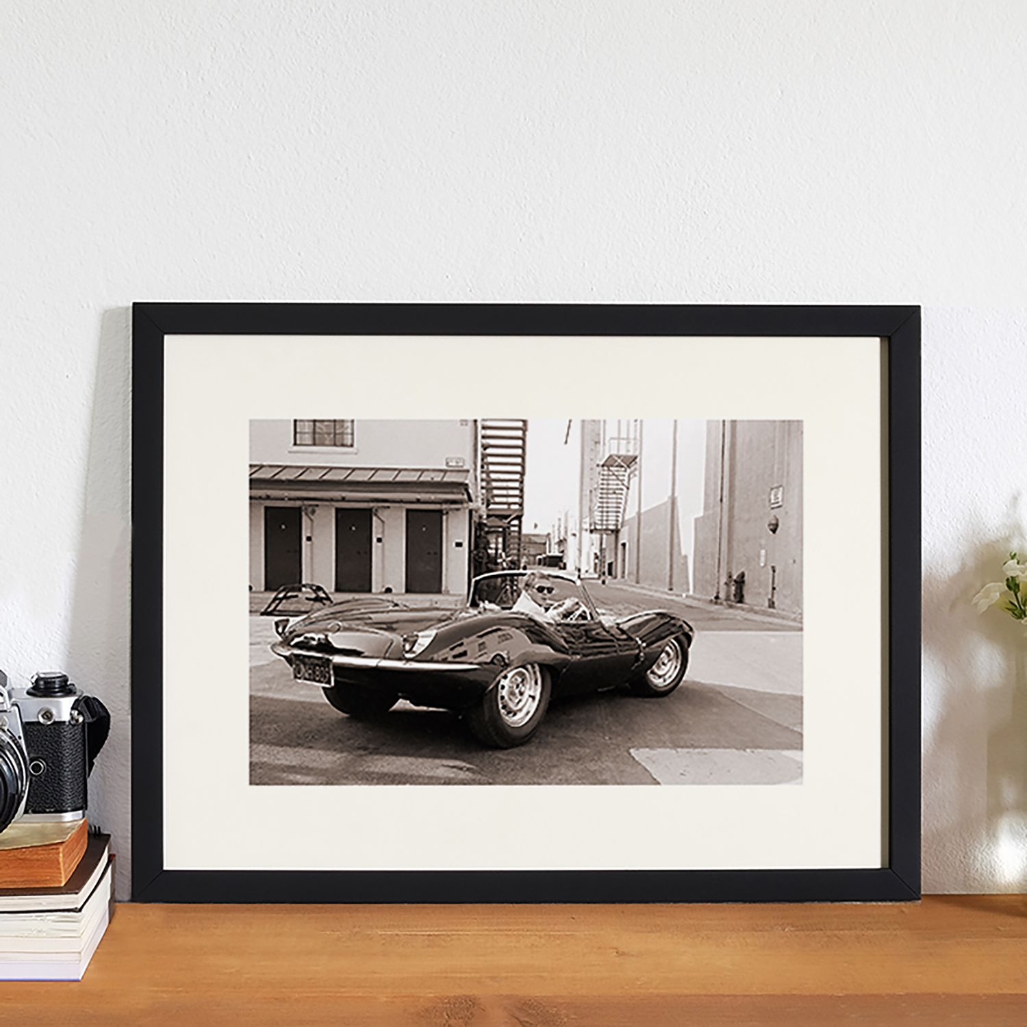 Bild Steve McQueen in his Jaguar, Any Image
