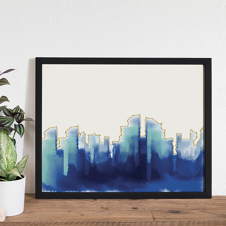 home24 Bild Abstract Blue | Dekoration > Bilder und Rahmen > Bilder