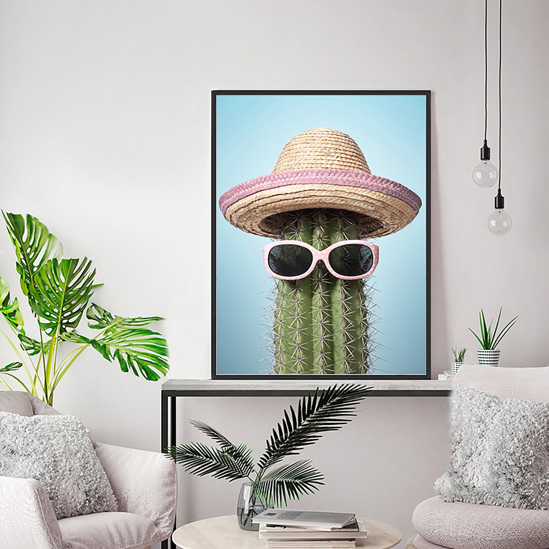 home24 Bild Pink mexico cactus | Dekoration > Bilder und Rahmen > Bilder | Any Image