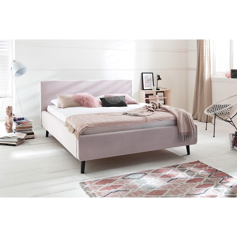 home24 meise.möbel Polsterbett Luana 180x200 cm Webstoff Altrosa