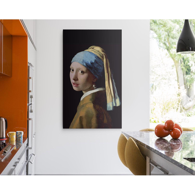 home24 Leinwandbild Jan Vermeer I | Dekoration > Bilder und Rahmen > Bilder | Braun | Reinders