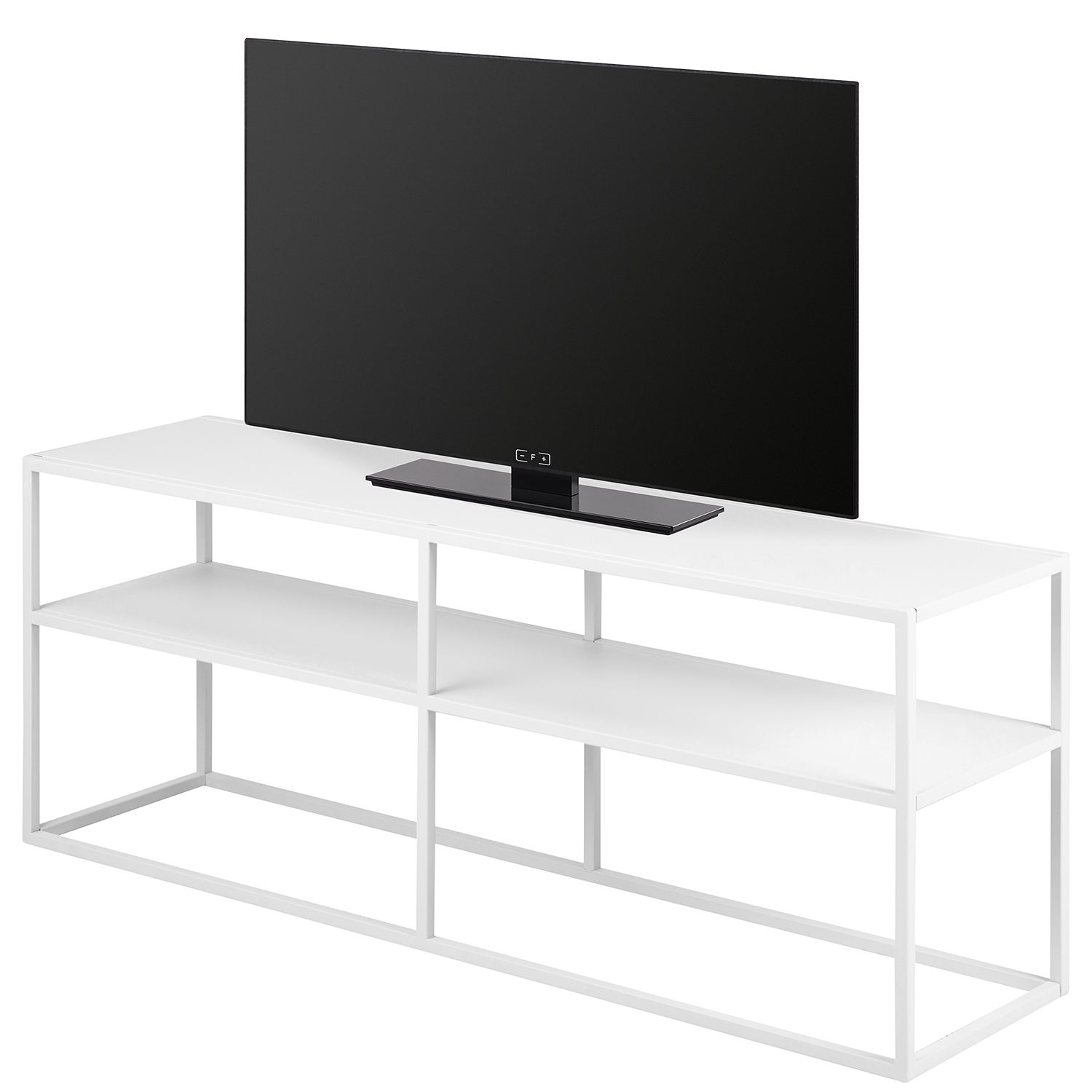 home24 Norrwood TV-Lowboard Cascavel Weiß Stahl 120x46x30 cm (BxHxT)