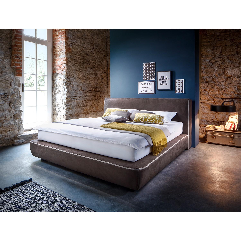 home24 tanja meise 4brands Boxspringbett Cosy 180x200 cm Webstoff Espresso mit Matratze