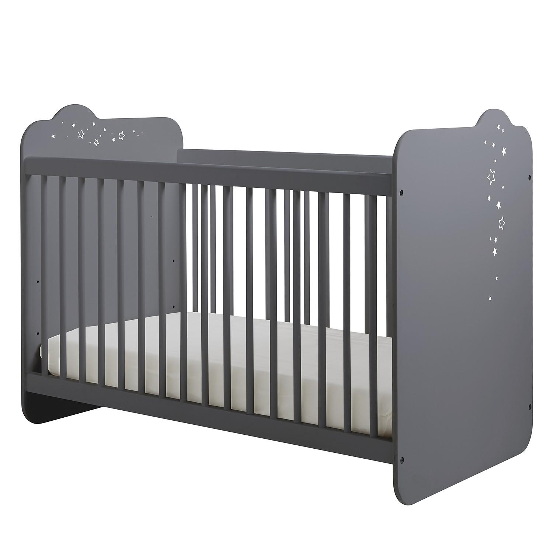 home24 Babybett Poussiere d´etoiles   Kinderzimmer > Babymöbel   Grau   home24
