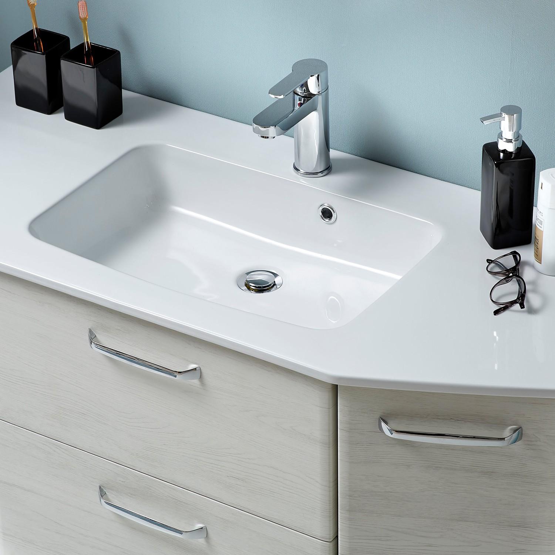 Waschtisch AMORA II - Eiche Weiß Dekor