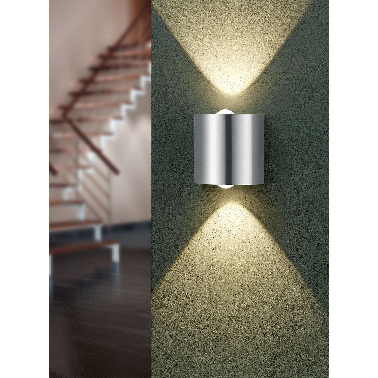 home24 LED-Wandleuchte Wales