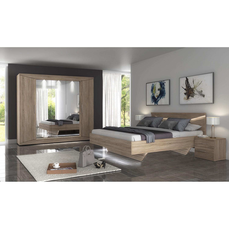 Schlafzimmermöbel - Nachtkommode Vinstra - loftscape - Braun
