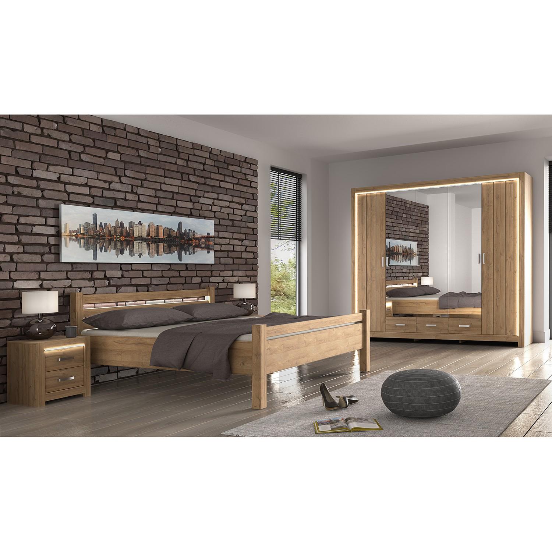 Schlafzimmermöbel - Nachtkommode Skalavik - loftscape - Braun