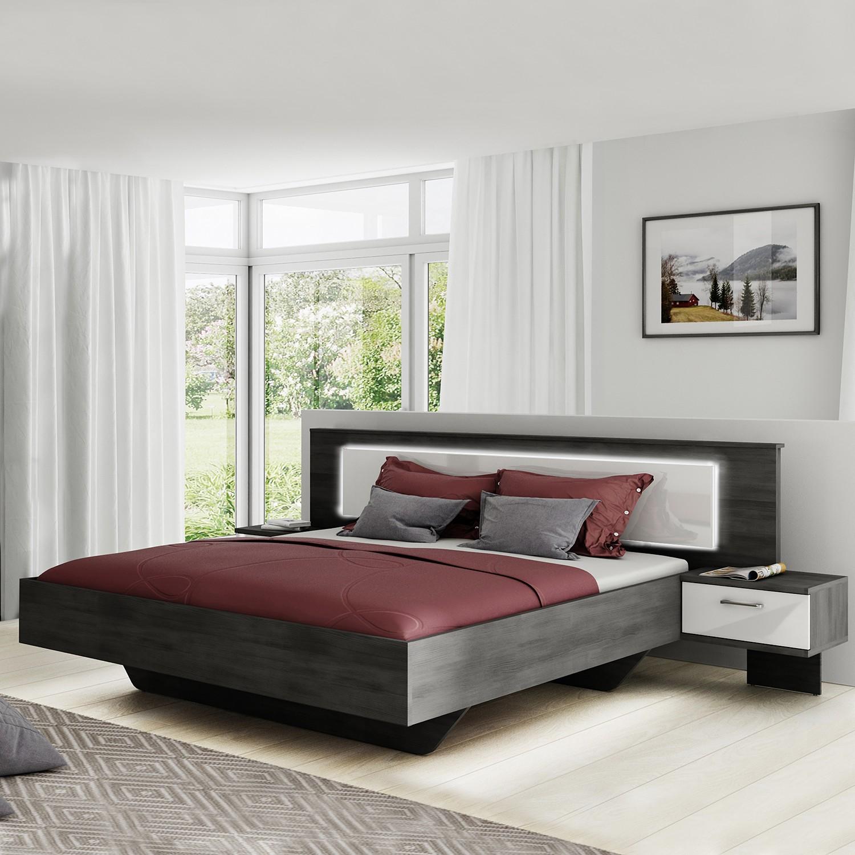 Schlafzimmermöbel - Bettanlage Stokka - loftscape - Schwarz