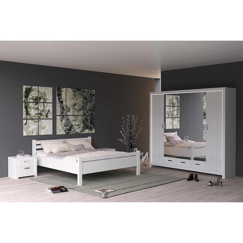 Schlafzimmermöbel - Schlafzimmerset Skalavik (4-teilig) - loftscape - Weiss