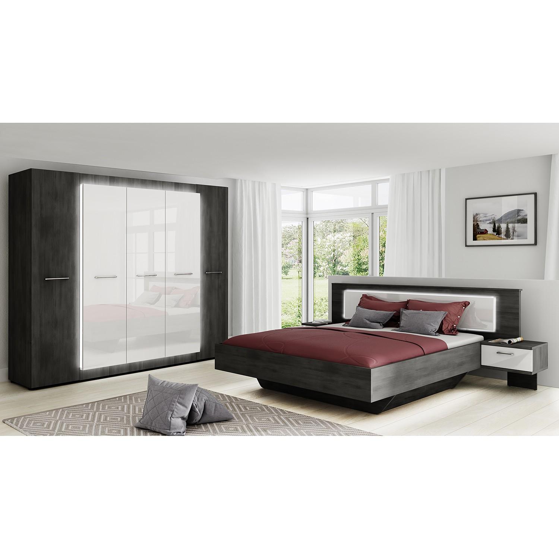 Schlafzimmermöbel - Schlafzimmerset Stokka (4-teilig) - loftscape - Schwarz