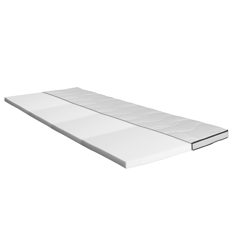 loftscape Topper Still Bay Premium 200x200 cm Viscoschaum Webstoff Weiß/Grau