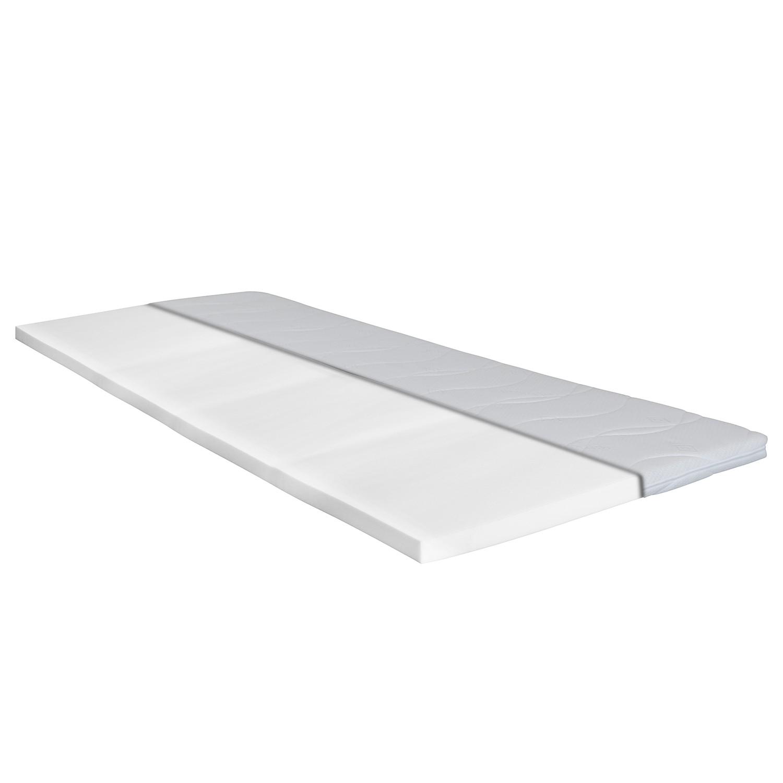 loftscape Topper Still Bay Basic 200x200 cm Komfortschaum Webstoff Weiß