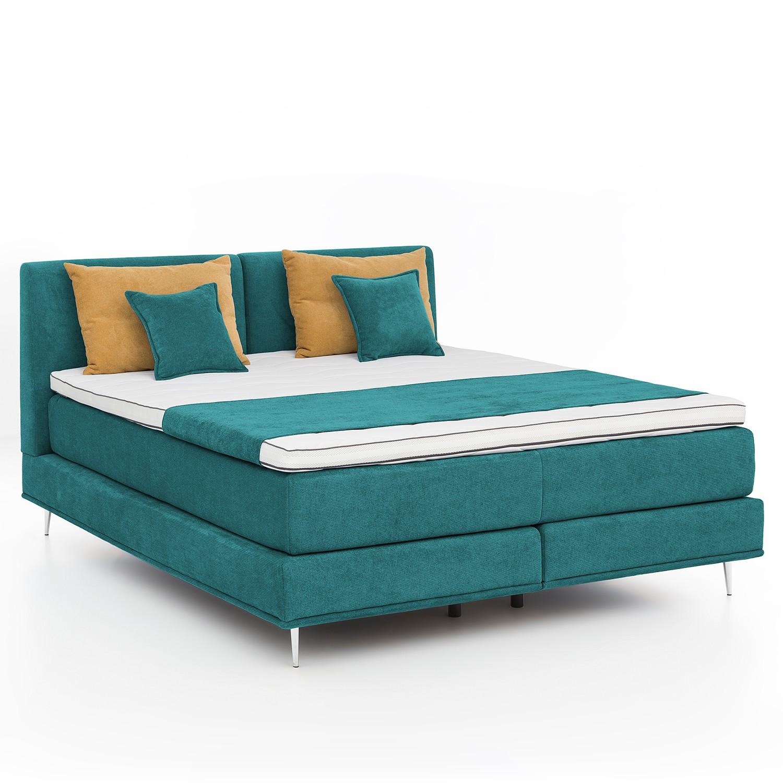 home24 Boxspringbett Veneto   Schlafzimmer > Betten   Blau   Norrwood