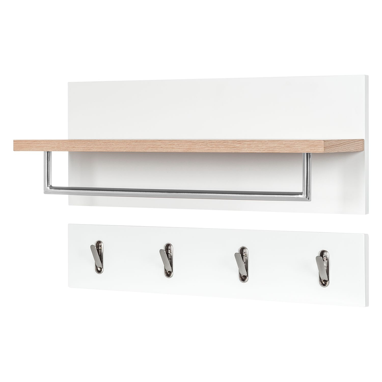 home24 Garderobenset Lindholm II (2-teilig) | Flur & Diele > Garderoben > Garderoben-Sets | Weiss | Moerteens