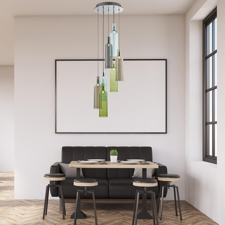 home24 LED-Pendelleuchte Bottle