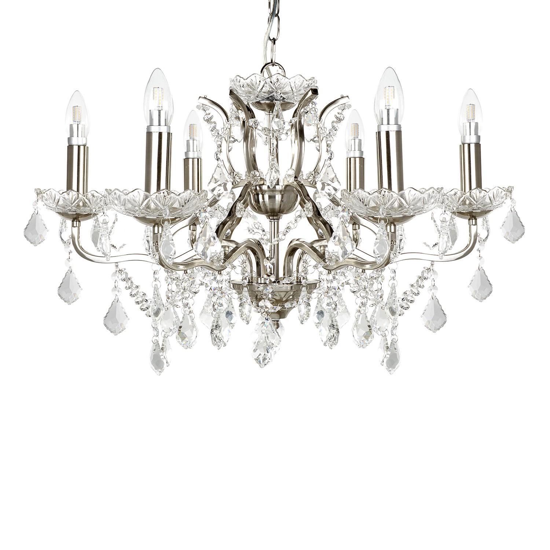 Kronleuchter Paris Kaufen - Kristallglas / Stahl Silber Flammenanzahl: 6