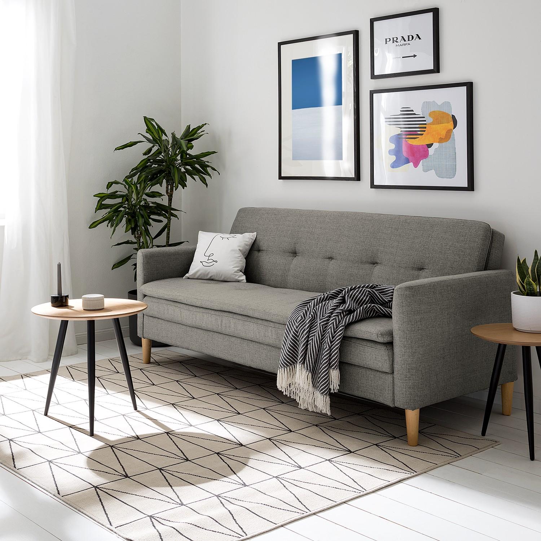 home24 Fredriks Schlafsofa Gizeh Grau Webstoff 199x85x85 cm mit Schlaffunktion