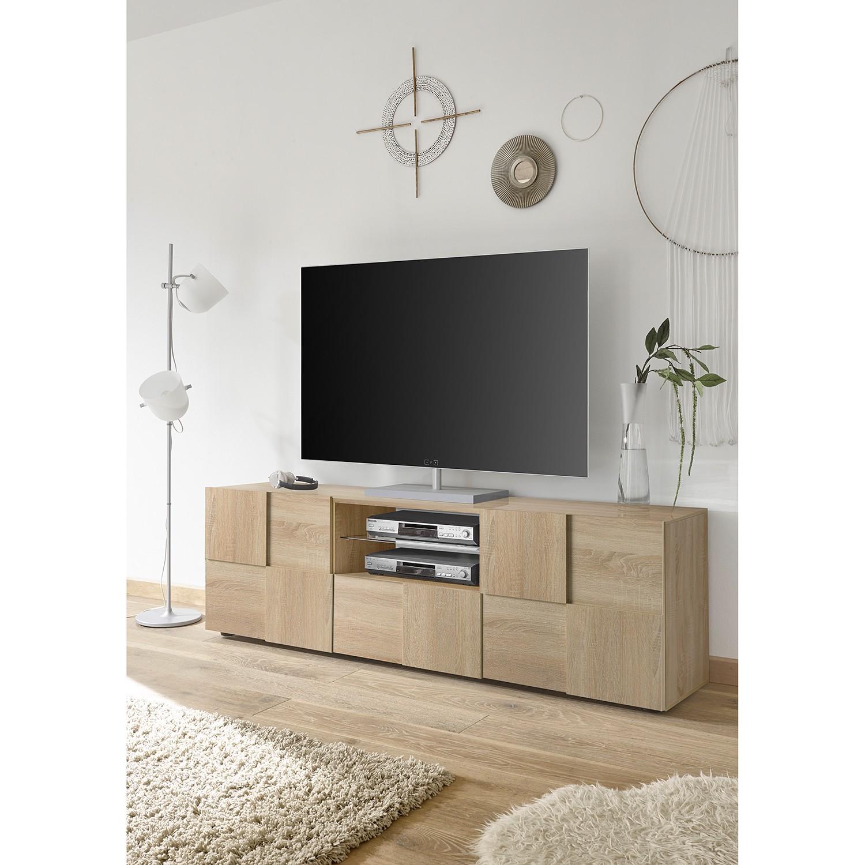 home24 LC Spa TV-Lowboard Dama II Eiche Sonoma Dekor Spanplatte 181x57x42 cm (BxHxT) Modern 2-türig 1 Schublade