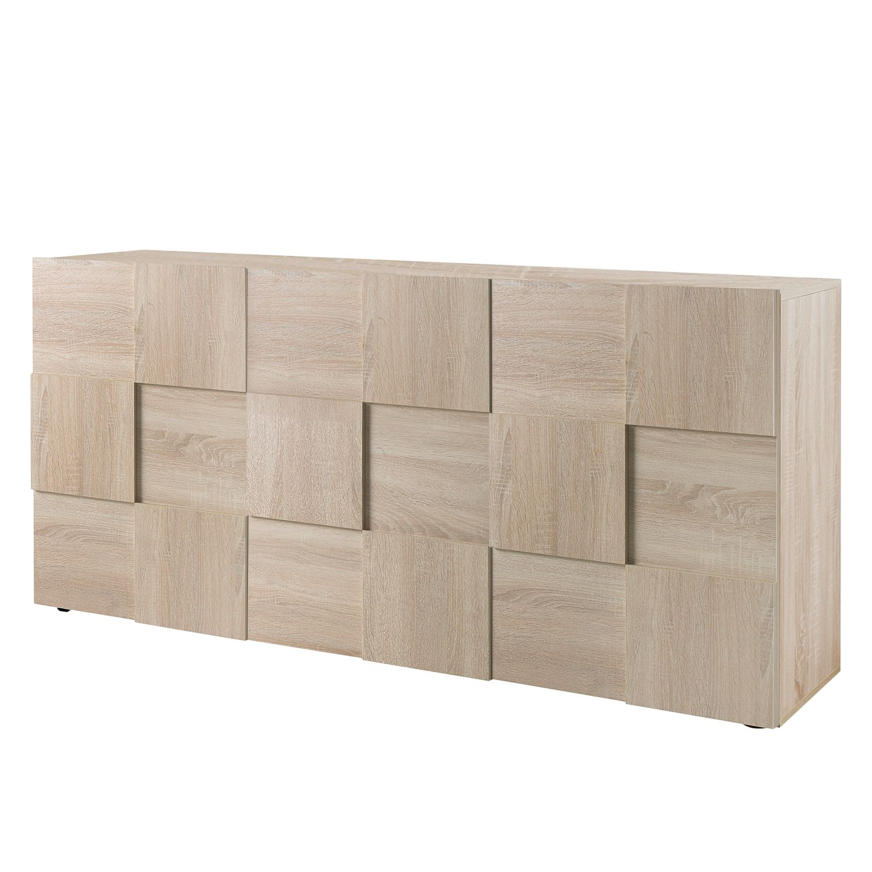 home24 LC Spa Sideboard Dama I Eiche Sonoma Dekor Spanplatte 181x84x42 cm (BxHxT) Modern 3-türig