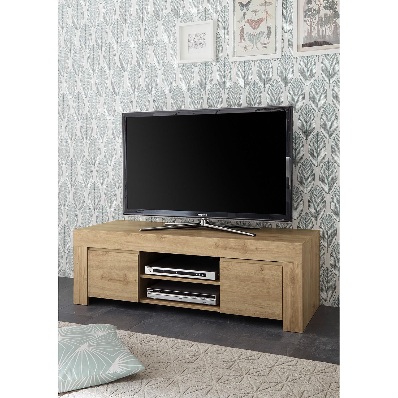 home24 LC Spa TV-Lowboard Firenze Eiche Dekor Spanplatte 138x44x42 cm (BxHxT) Modern 2-türig