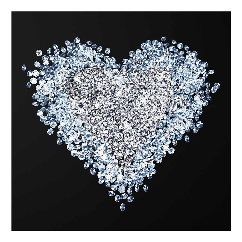 Glasbild mit Herz