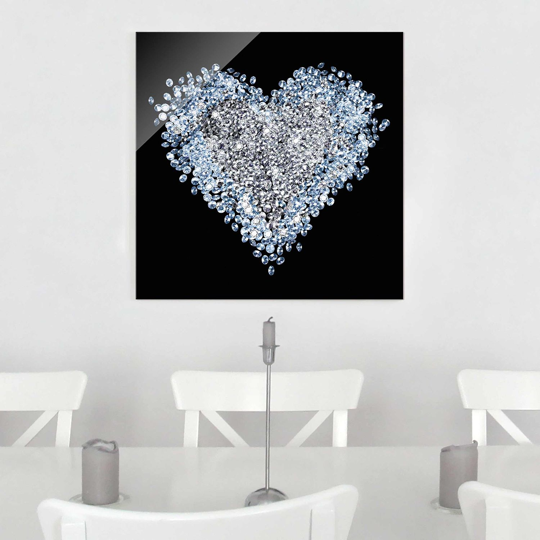 home24 Bild Diamant Herz | Dekoration > Bilder und Rahmen > Bilder | Bilderwelten
