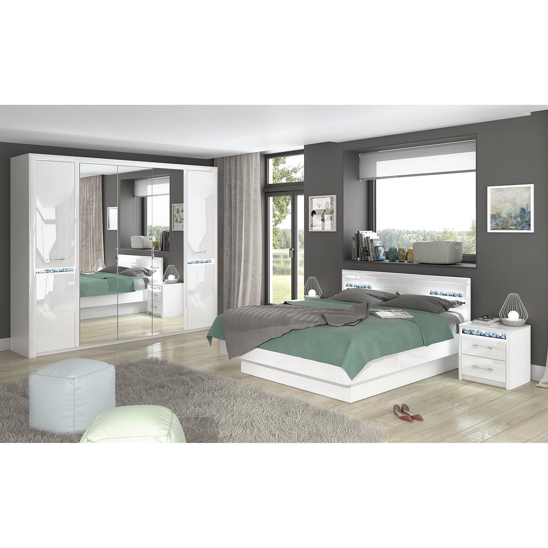 Schlafzimmermöbel - Schlafzimmerset Charnocks (4-teilig) - loftscape - Weiss