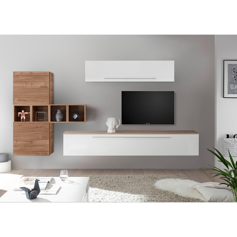 home24 Wohnwand Infinity VI (9-teilig) | Wohnzimmer > Schränke > Wohnwände | Weiss | LC Mobili