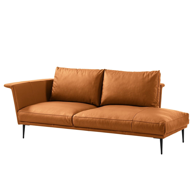 home24 Studio Copenhagen Recamiere Drove I Cognac Echtleder 223x83x110 cm | Wohnzimmer > Sofas & Couches > Recamieren