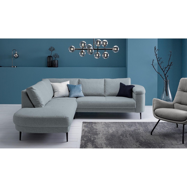 home24 Studio Copenhagen Ecksofa Mogo I Graublau Webstoff 244x71x243 cm