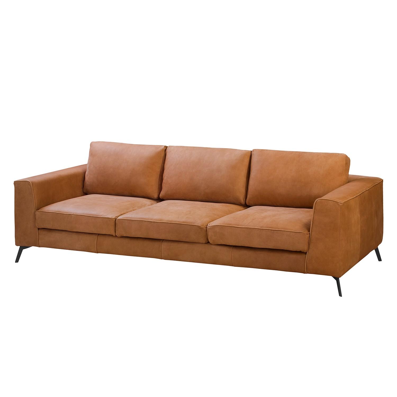ars manufacti Sofa Sanchez II 3-Sitzer Cognac Echtleder 252x84x106 cm
