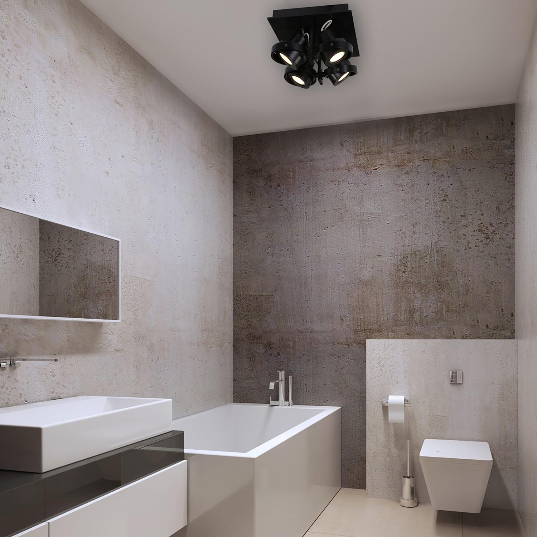 home24 LED-Deckenleuchte Quatro
